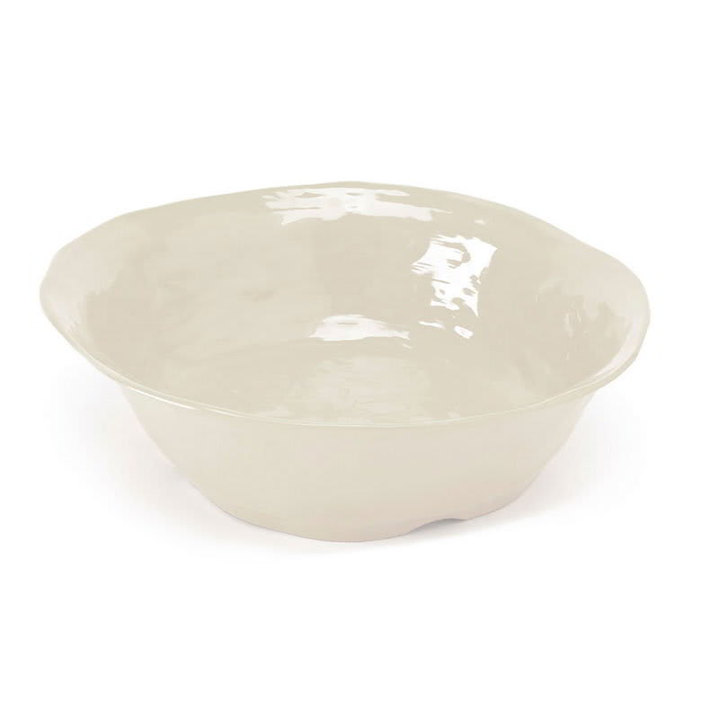 "GET ML-134-IV 16"" Round Serving Bowl w/ 6.5-qt Capacity, Melamine, Ivory"
