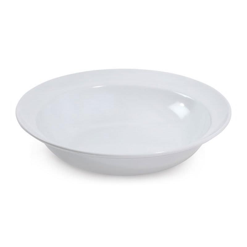 "GET ML-13-W 14"" Round Serving Bowl w/ 3 qt Capacity, Melamine, White"