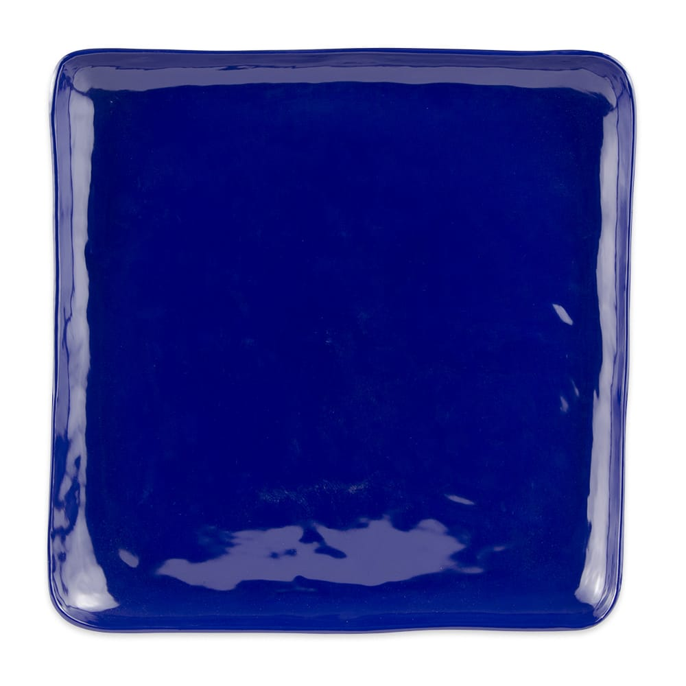 "GET ML-143-CB 16"" Square Dinner Plate, Melamine, Blue"