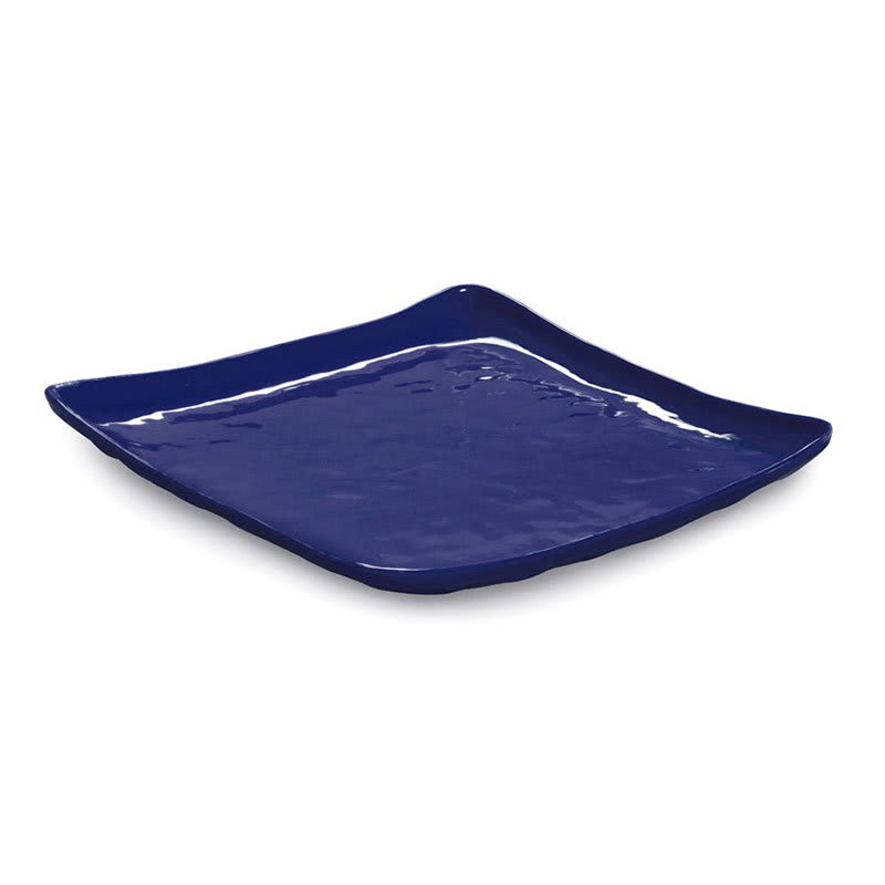 "GET ML-147-CB 13.75"" Square Dinner Plate, Melamine, Blue"