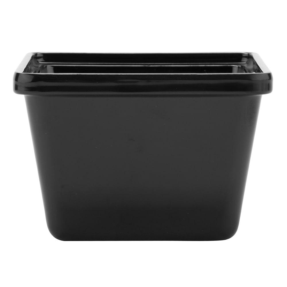 GET ML-148-BK 28 oz Salad Crock, Melamine, Black