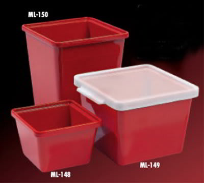 GET ML-149-RSP 2-qt Salad Crock, Melamine, Red