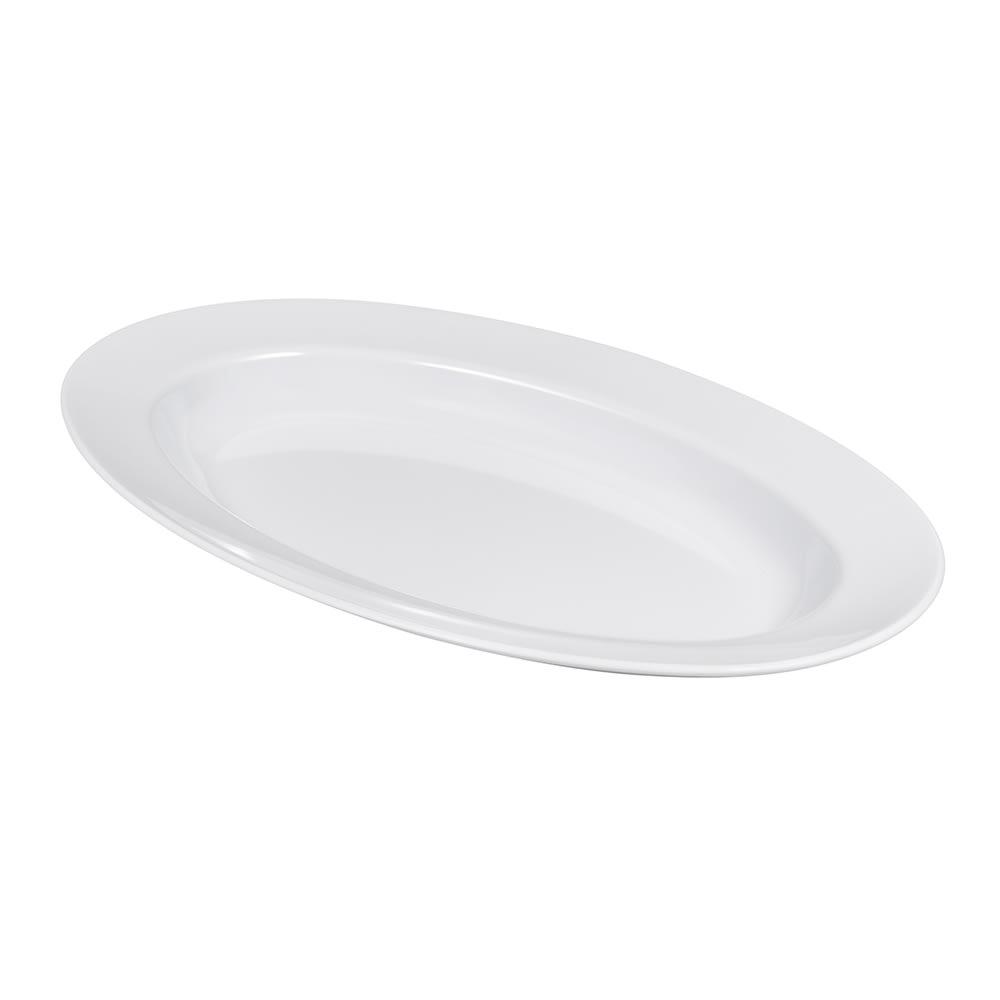"""GET ML-14-W Oval Serving Platter, 17"""" x 12"""", Melamine, White"""