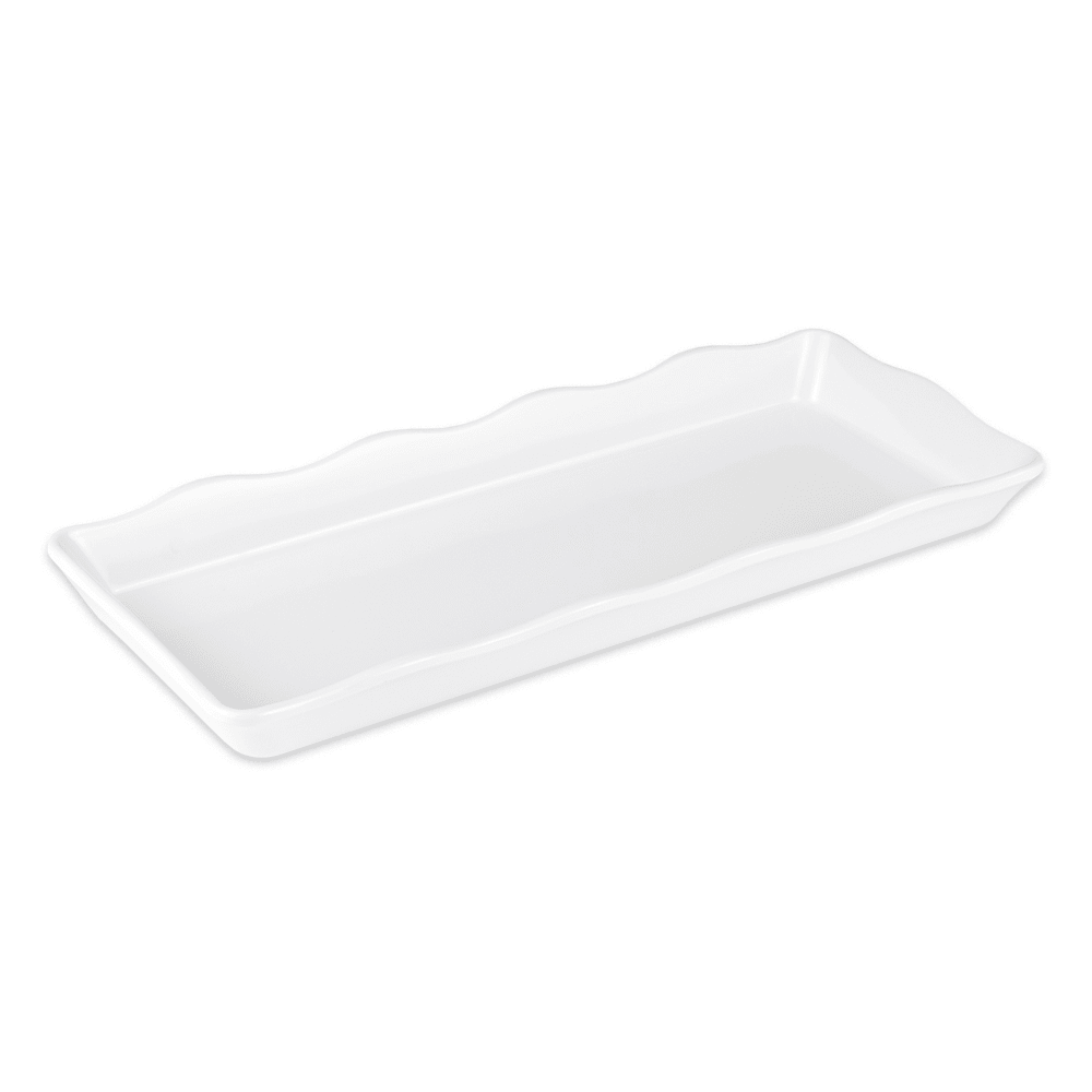 "GET ML-154-W Rectangular Display Tray, 14"" x 5.5"", Melamine, White"