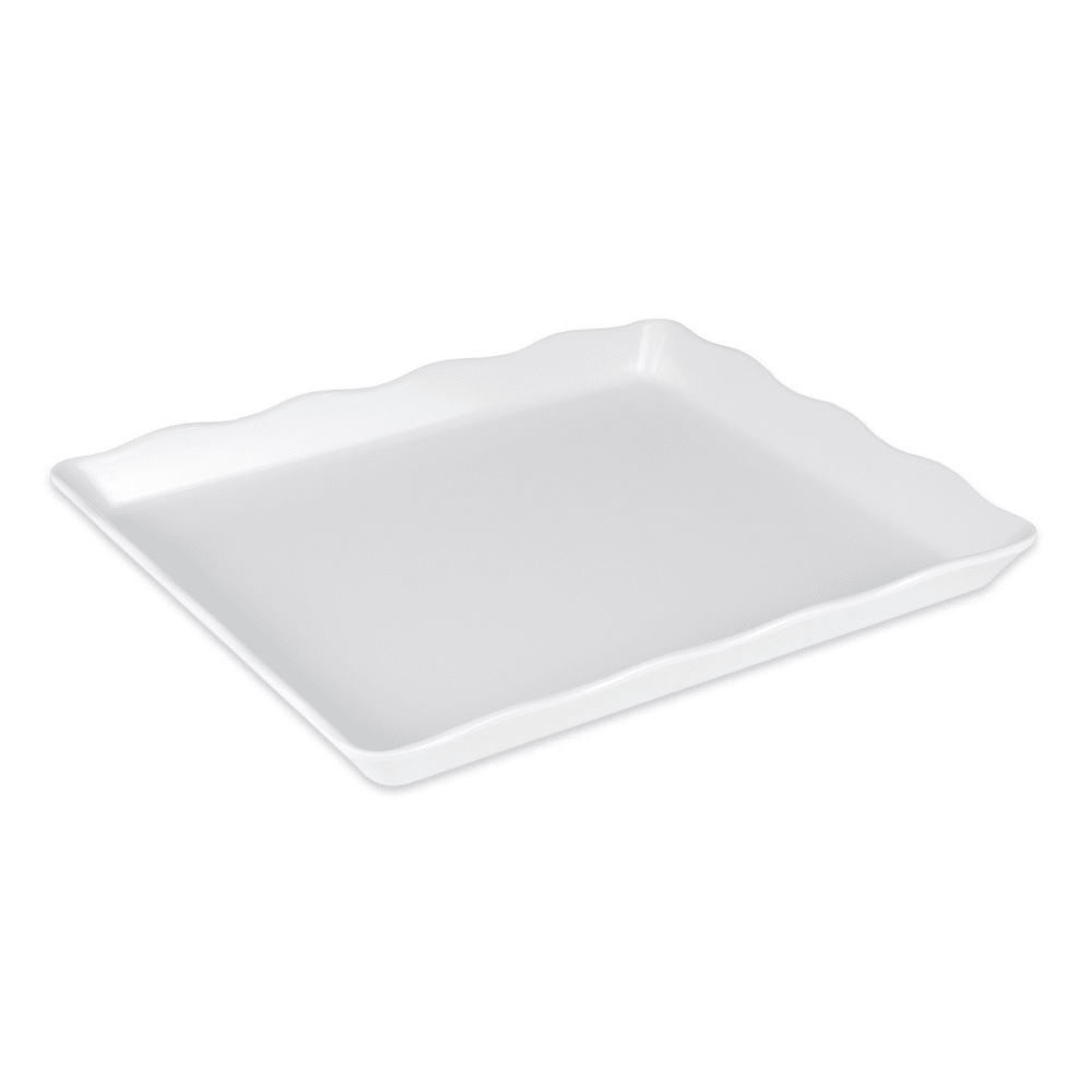 "GET ML-155-W Rectangular Display Tray, 14"" x 11.5"", Melamine, White"
