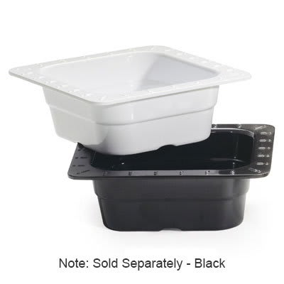 GET ML-157-BK 1/6-Size Food Pan, Melamine, Black