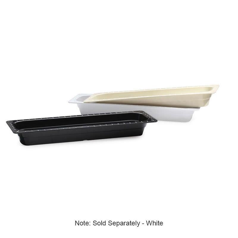 GET ML-158-W 1/2-Long Food Pan, Melamine, White