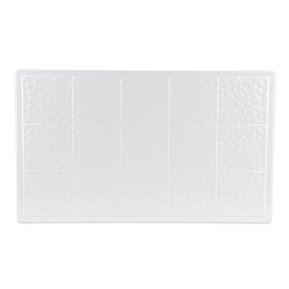 GET ML-160-W Full-Size Tile, Solid, Melamine, White
