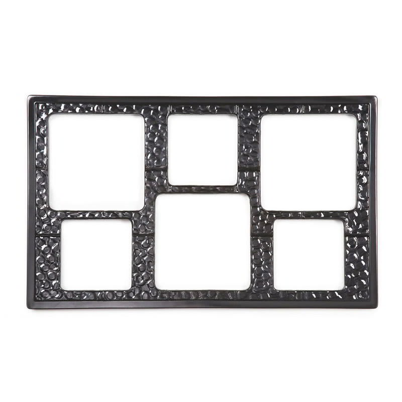 GET ML-162-BK Full-Size Tile for Round Square w/ (6) Cut-Outs, Melamine, Black