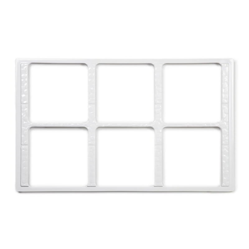 GET ML-168-W Full Size Tile w/ (6) Square Cut-Outs for ML-149/ML-150, Melamine, White