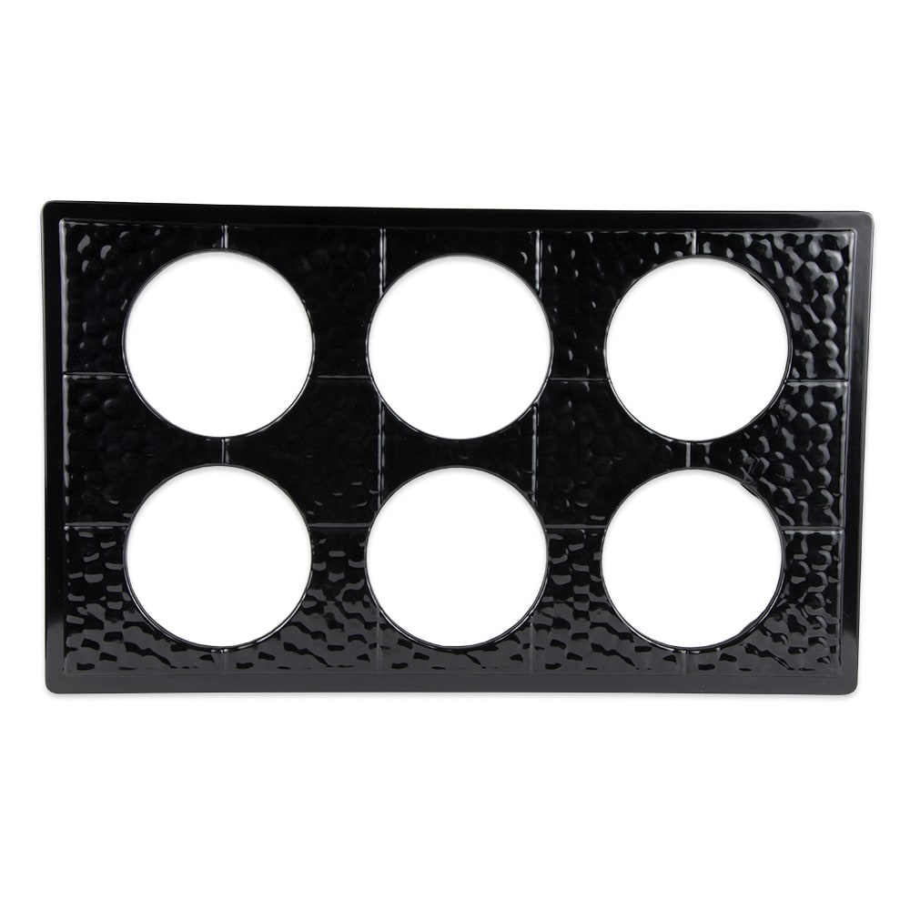 GET ML-171-BK Full Size Tile w/ (6) Cut-Outs for CR-0120, Melamine, Black