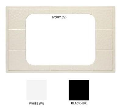 GET ML-174-BK Tiles-Cut Outs, Full Size w/ 1 Hole for ML-178, Melamine, Dishwasher Safe, Black