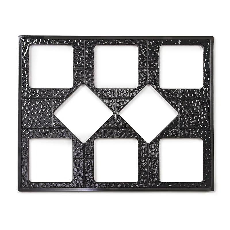 GET ML-175-BK Full Size Tile w/ (8) Cut-Outs for ML-149/ML-150, Melamine, Black
