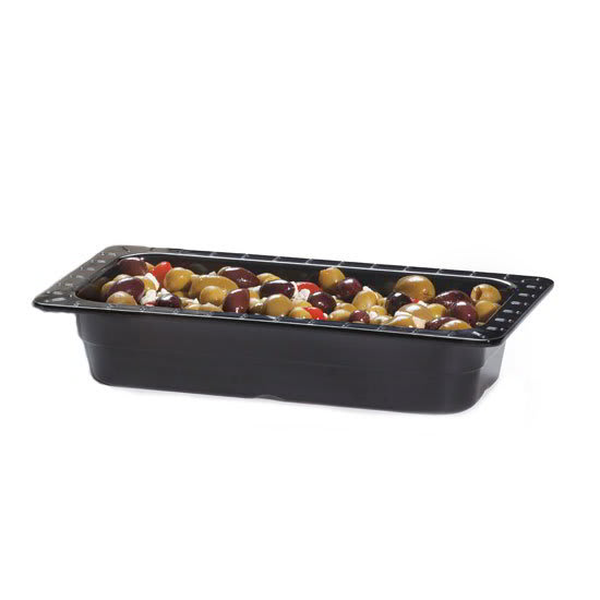 GET ML-17-BK 1/3-Size Food Pan, Melamine, Black