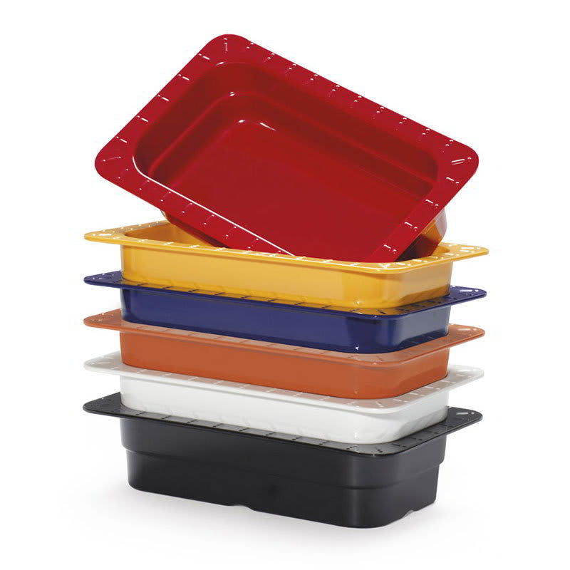 GET ML-17-BUI (6) 1/3-Size Food Pan, Melamine, Multi-Colored