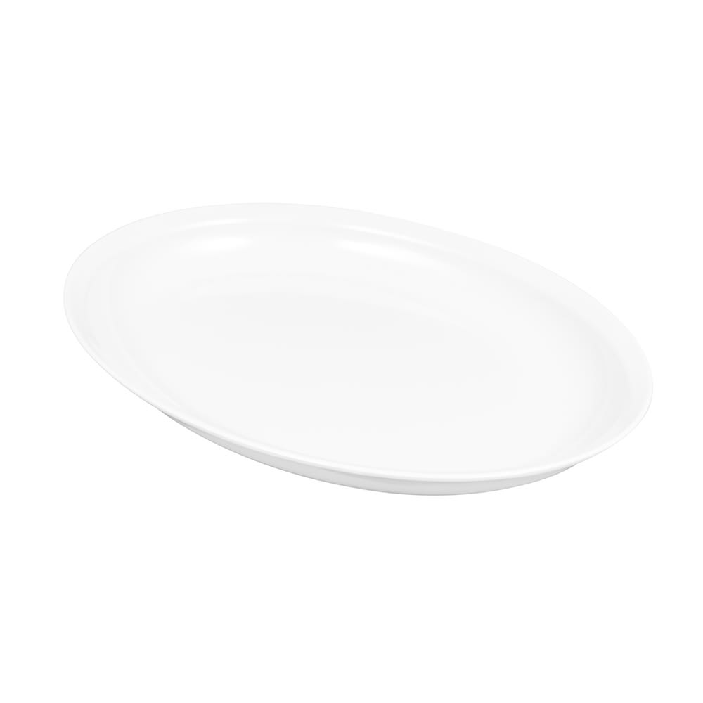 "GET ML-181-W Oval Serving Platter, 15"" x 12"", Melamine, White"