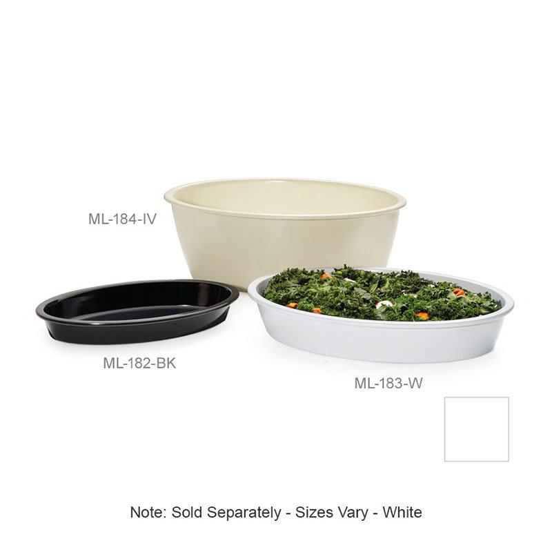 "GET ML-184-W 9-qt Rectangular Casserole Dish, 16"" x 10"", Melamine, White"