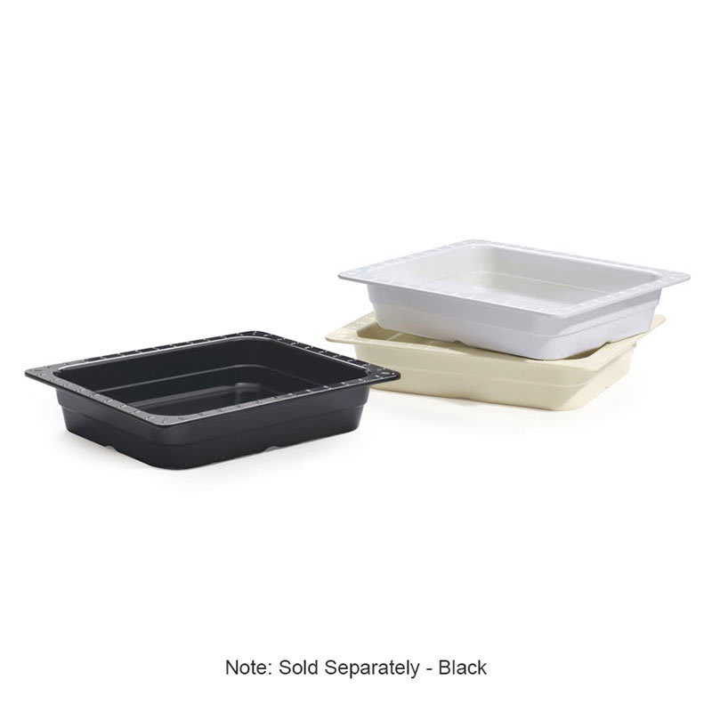 GET ML-18-BK 1/2 Size Food Pan, Melamine, Black