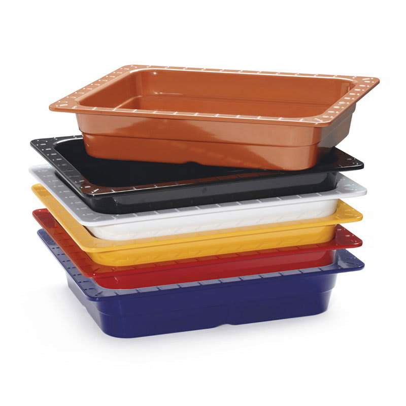 GET ML-18-BUI (6) 1/2-Size Food Pan, Melamine, Multi-Colored