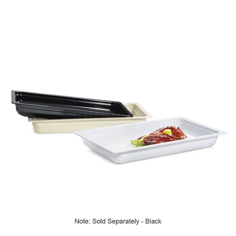 GET ML-19-BK Full-Size Food Pan, Melamine, Black