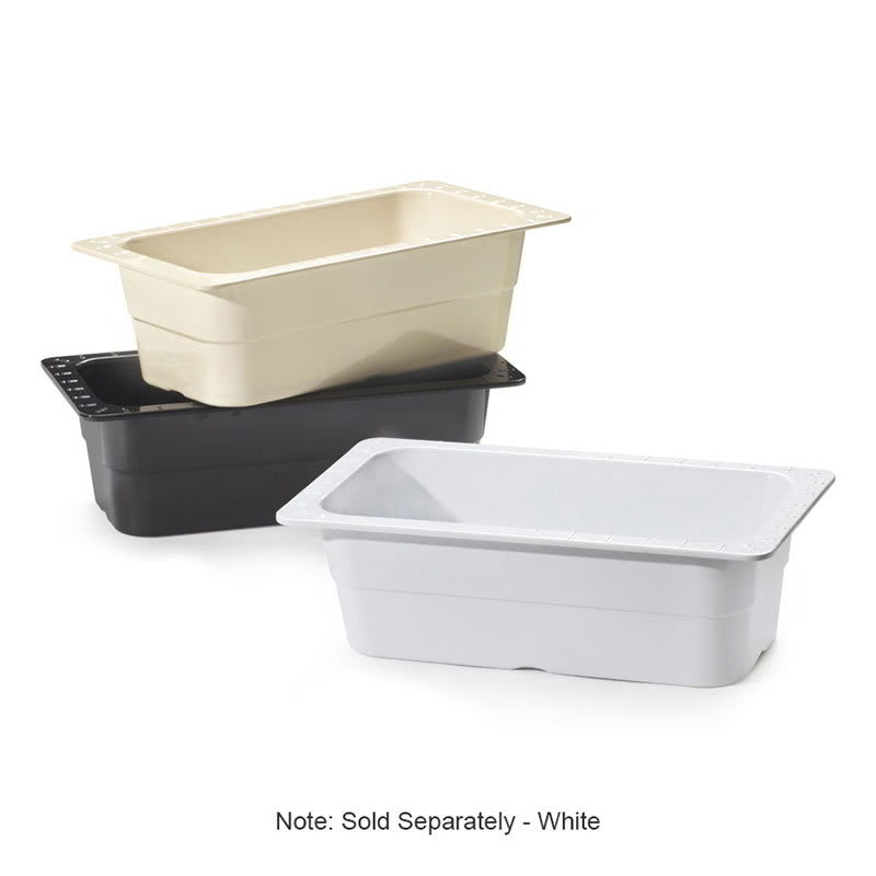 GET ML-20-W 1/3-Size Food Pan, Melamine, White