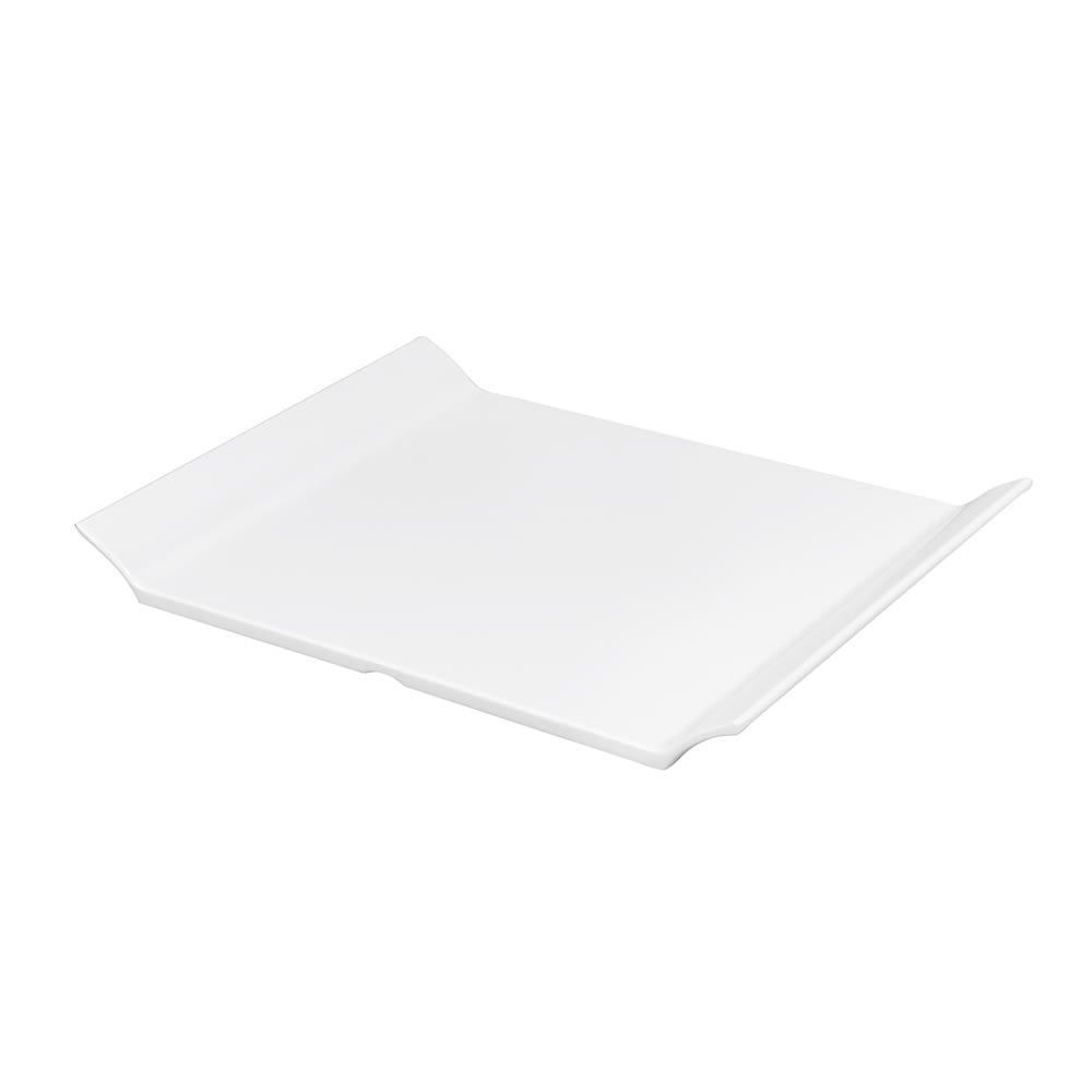 """GET ML-212-W Oval Serving Platter, 11"""" x 8"""", Melamine, White"""