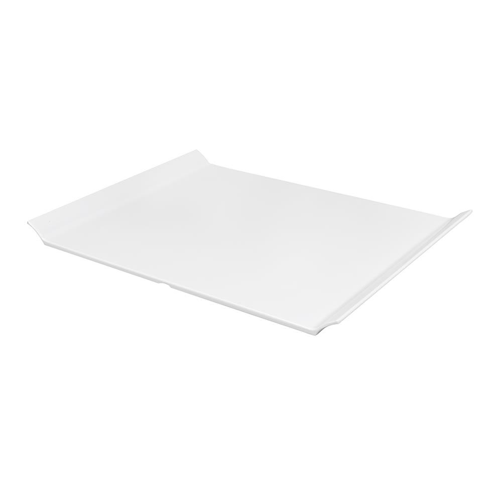 """GET ML-213-W Oval Serving Platter, 18"""" x 13"""", Melamine, White"""