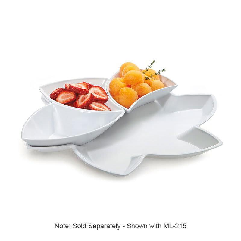 "GET ML-218-W 14.5"" Flower-Shaped Display Tray for (6) ML-215 W, Melamine, White"
