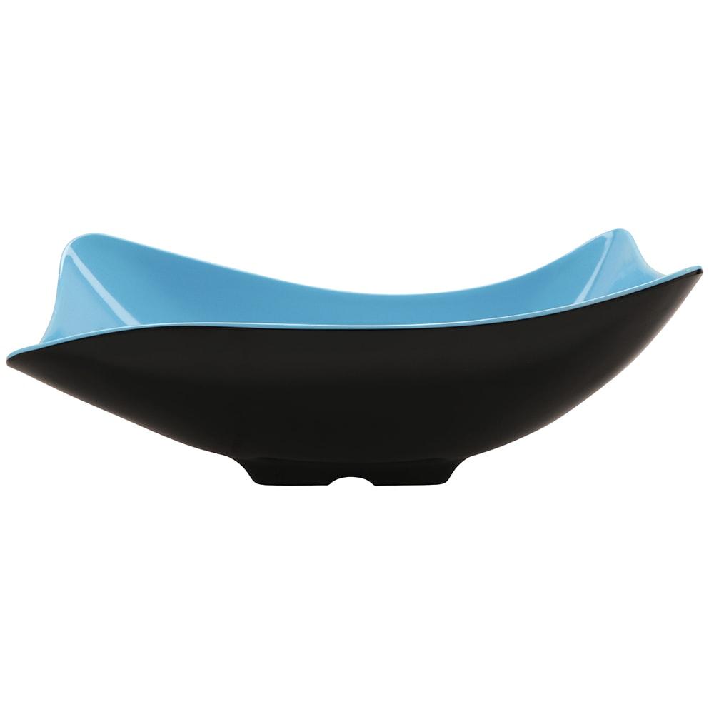 "GET ML-219-BL/BK 11.5"" Round Pasta Bowl w/ 1.9-qt Capacity, Melamine, Blue/Black"