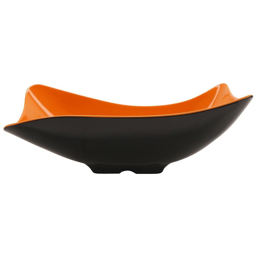 """GET ML-219-OR/BK 11.5"""" Round Pasta Bowl w/ 1.9-qt Capacity, Melamine, Orange/Black"""