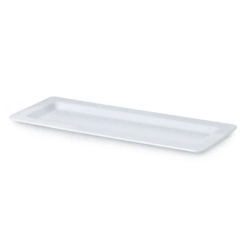 "GET ML-226-W Rectangular Display Tray, 21.5"" x 8.25"", Melamine, White"