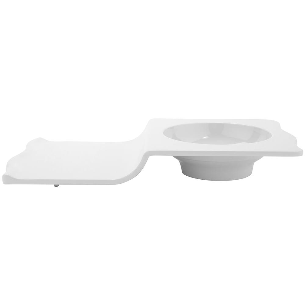 GET ML-231-W Rectangular Soup/Sandwich Plate w/ 10 oz Capacity, Melamine, White