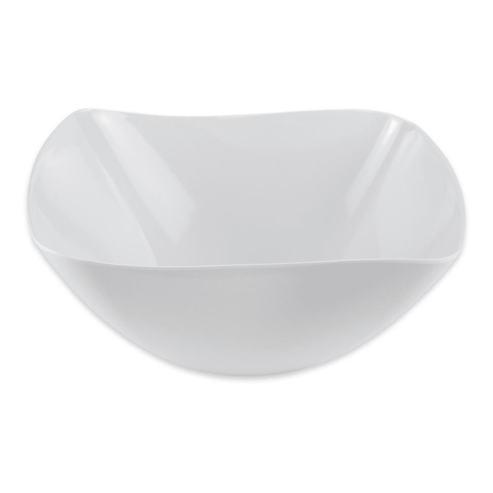 "GET ML-235-W 15"" Round Serving Bowl w/ 10.8-qt Capacity, Melamine, White"