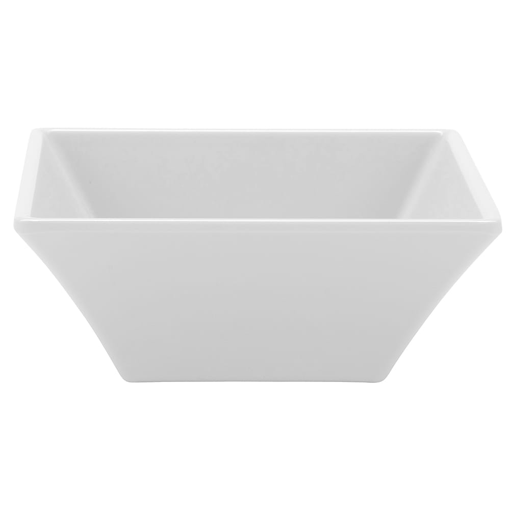 "GET ML-238-W 5"" Square Salad Bowl w/ 14-oz Capacity, Melamine, White"
