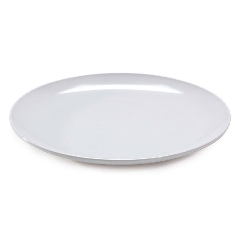 "GET ML-240-W 18"" Round Serving Platter, Melamine, White"