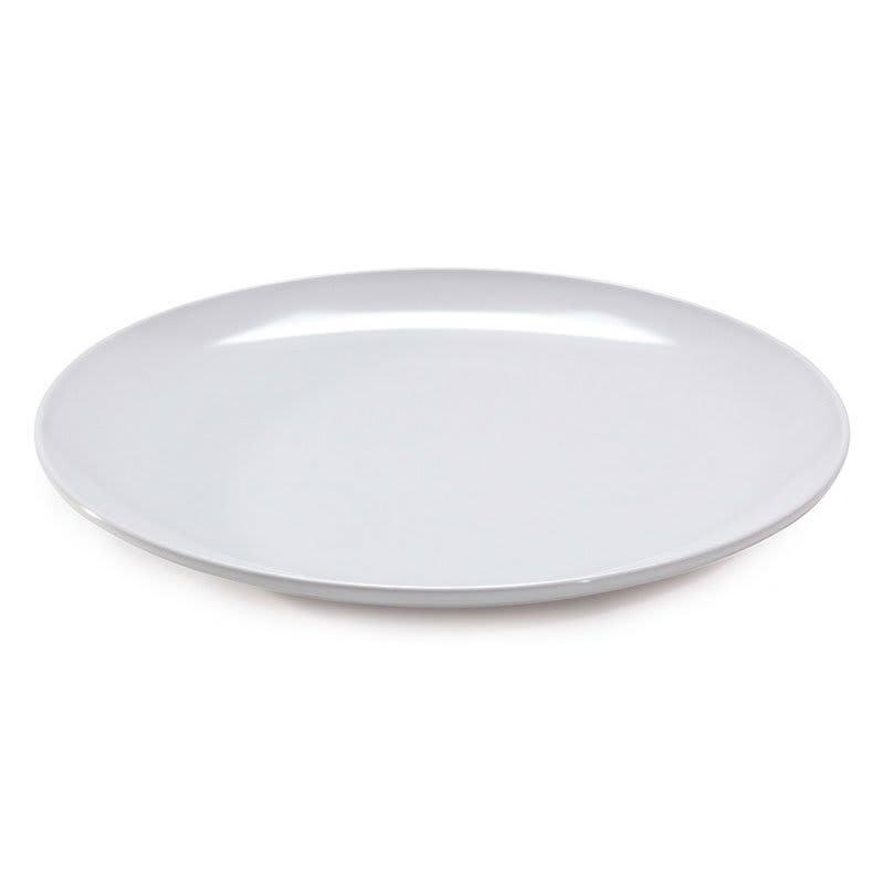 """GET ML-240-W 18"""" Round Serving Platter, Melamine, White"""