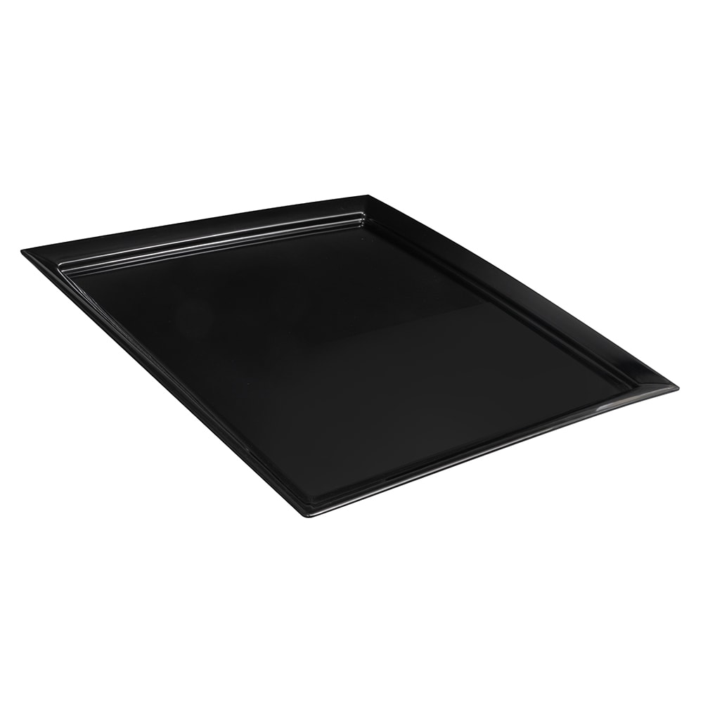 "GET ML-244-BK 24"" Round Serving Platter, Melamine, Black"