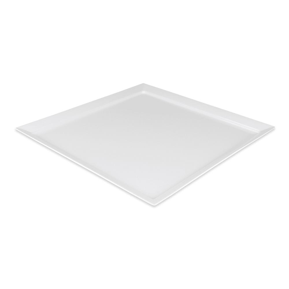 """GET ML-244-W 24"""" Round Serving Platter, Melamine, White"""