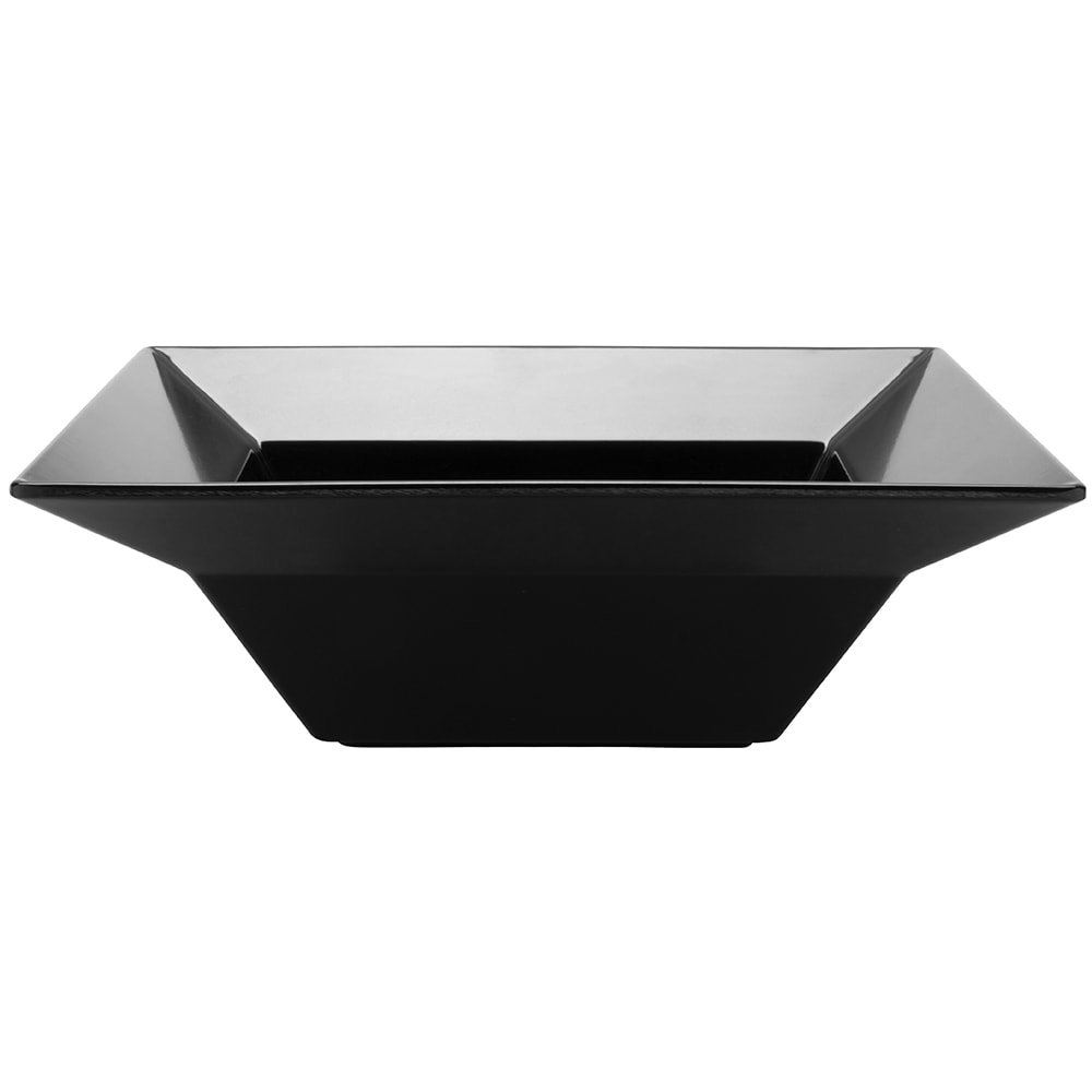 "GET ML-245-BK 12"" Round Serving Bowl w/ 3.8-qt Capacity, Melamine, Black"