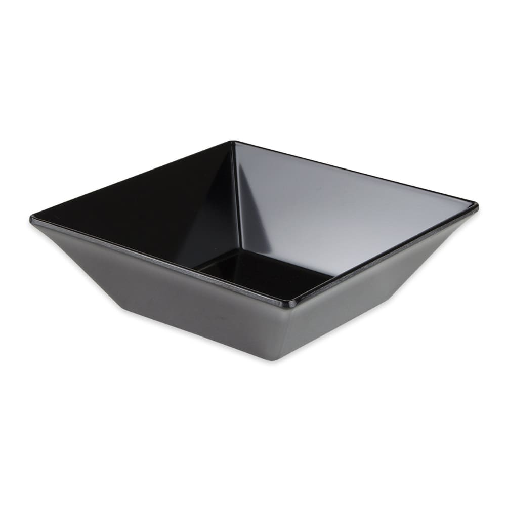 "GET ML-246-BK 8"" Square Pasta Bowl w/ 1.6-qt Capacity, Melamine, Black"
