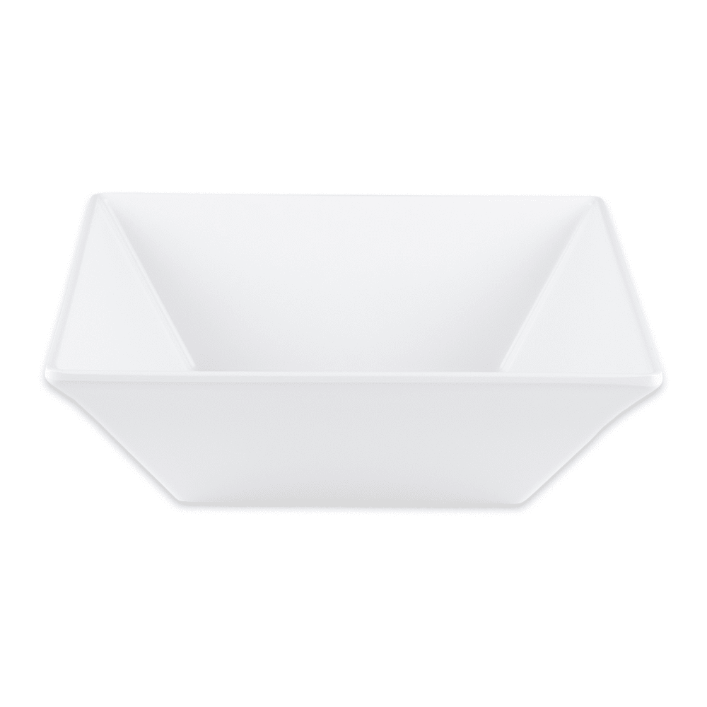 "GET ML-246-W 8"" Square Pasta Bowl w/ 1.6-qt Capacity, Melamine, White"