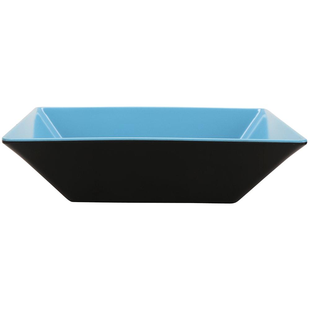 "GET ML-247-BL/BK 10"" Square Pasta Bowl w/ 2.5-qt Capacity, Melamine, Blue/Black"
