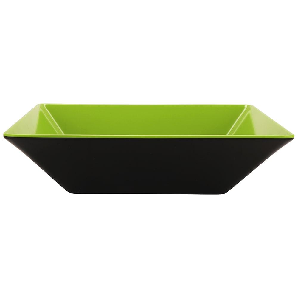 "GET ML-247-G/BK 10"" Square Pasta Bowl w/ 2.5-qt Capacity, Melamine, Green/Black"