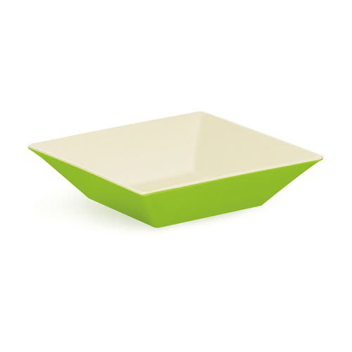 "GET ML-247-KL 10"" Square Pasta Bowl w/ 2.5 qt Capacity, Melamine, Green"