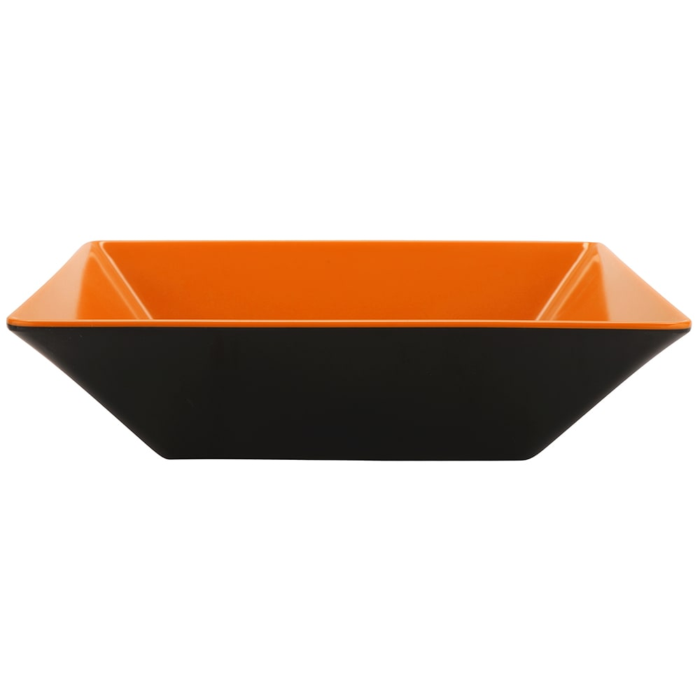 "GET ML-247-OR/BK 10"" Square Pasta Bowl w/ 2.5-qt Capacity, Melamine, Orange/Black"
