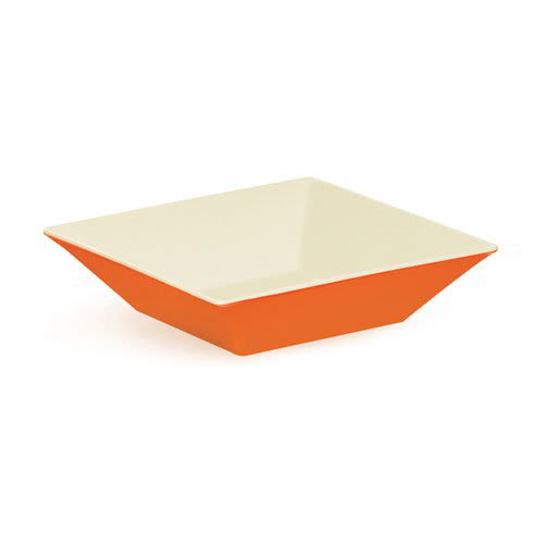 "GET ML-247-ST 10"" Square Pasta Bowl w/ 2.5-qt Capacity, Melamine, Orange"