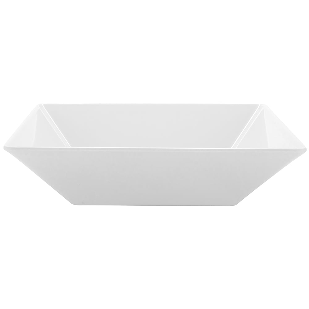 "GET ML-247-W 10"" Square Pasta Bowl w/ 2.5-qt Capacity, Melamine, White"