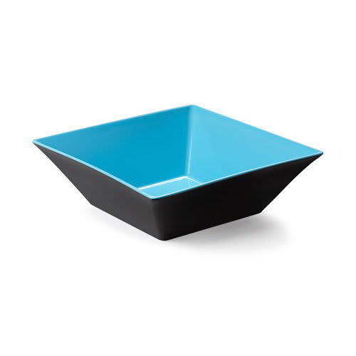"GET ML-248-BL/BK 12"" Square Serving Bowl w/ 5.7-qt Capacity, Melamine, Blue/Black"