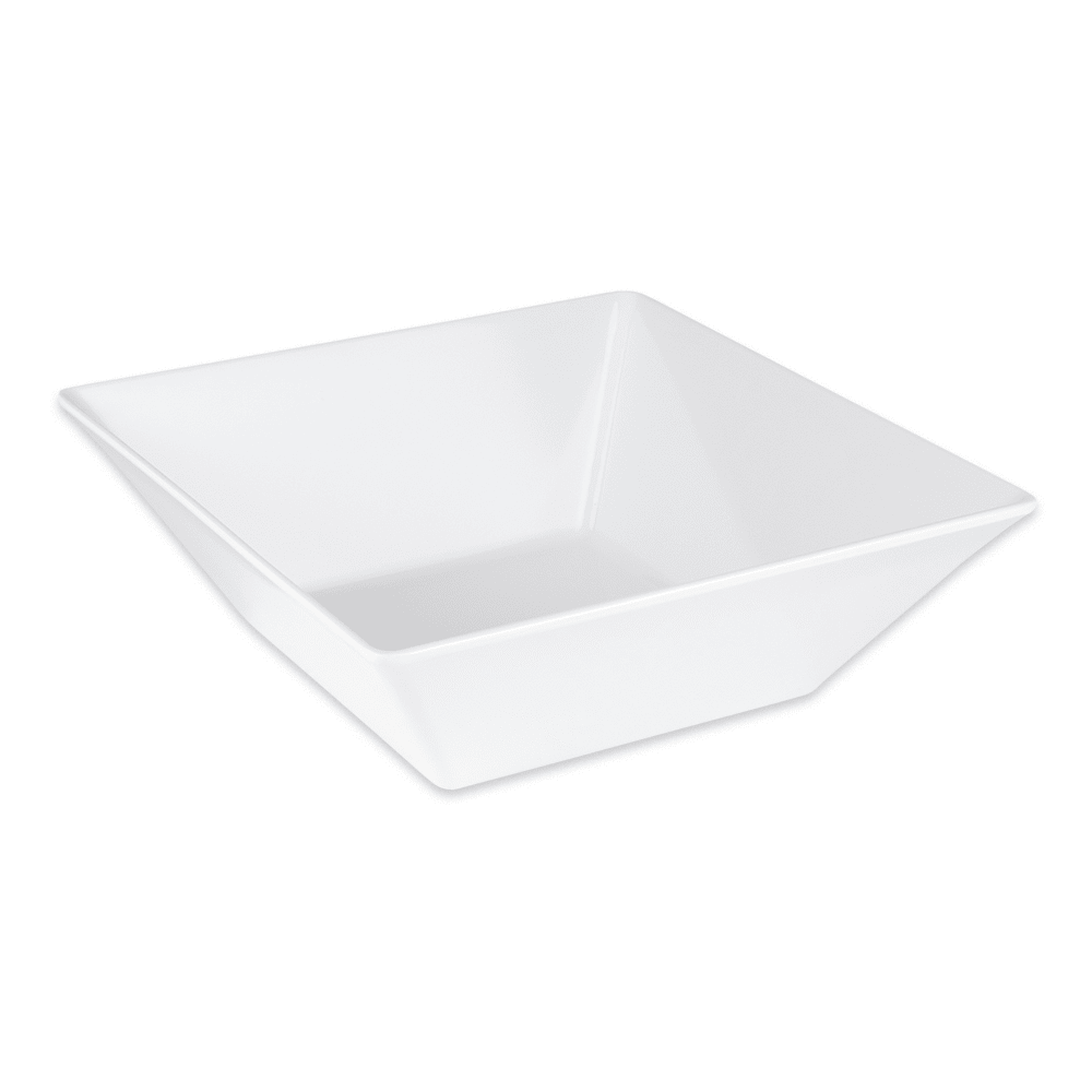 "GET ML-248-W 12"" Square Serving Bowl w/ 5.7-qt Capacity, Melamine, White"