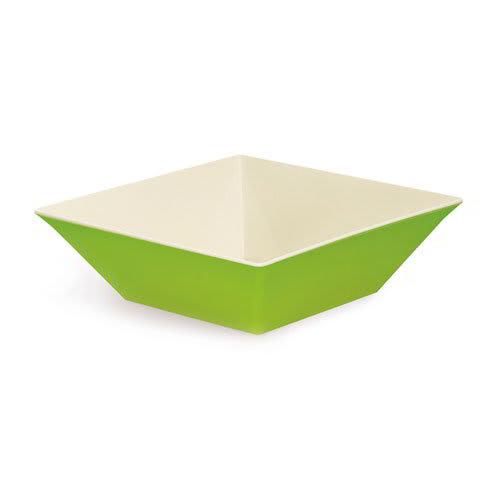 "GET ML-249-KL 16"" Square Serving Bowl w/ 12.8-qt Capacity, Melamine, Green"